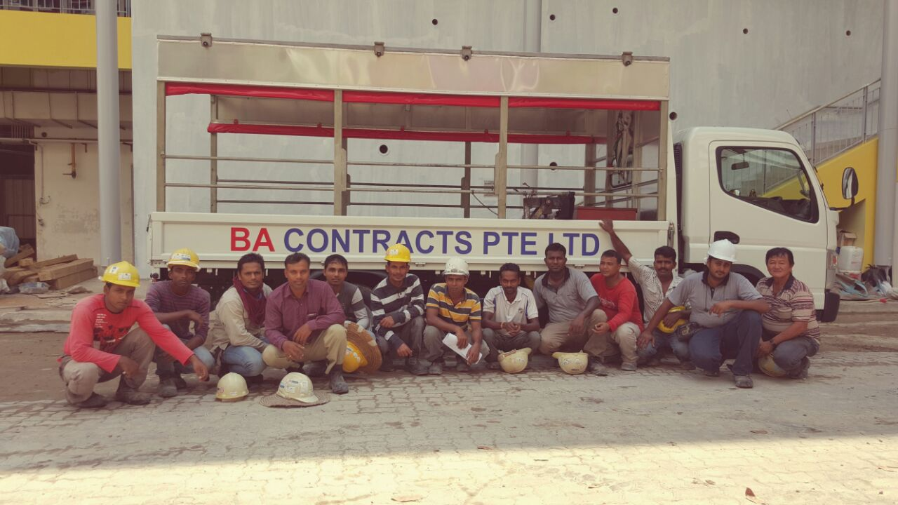 BA Contracts Interlocking Pavers Installation Team
