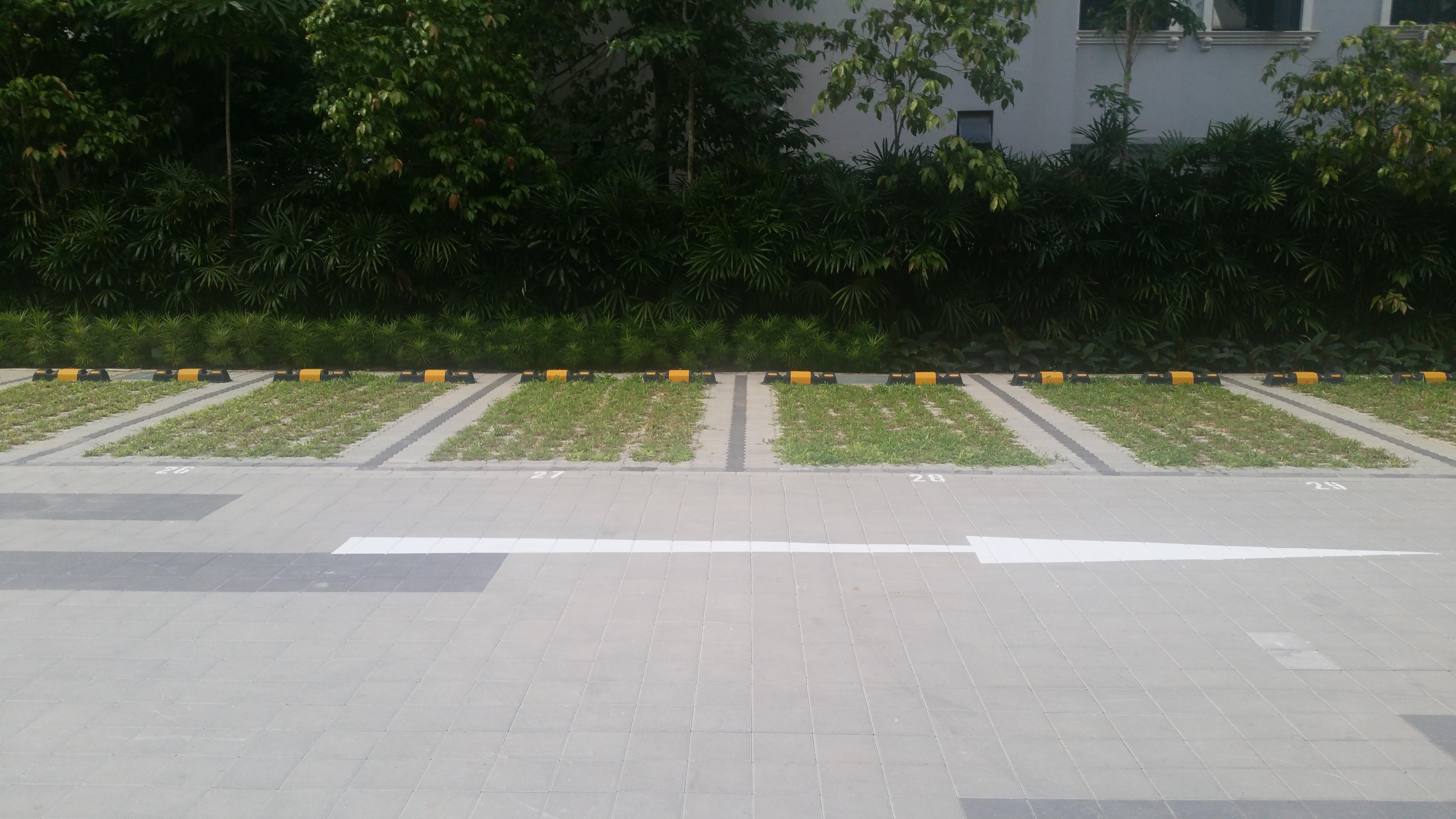 Square Pavers Installation At Newton Condominium