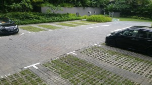 Square Interlocking Pavers at Carpark in Singapore