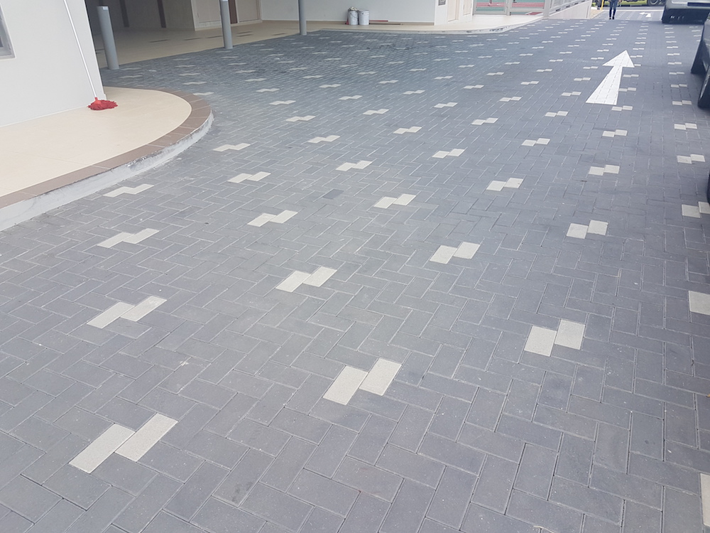 Community Centre Interlocking Pavers Driveway