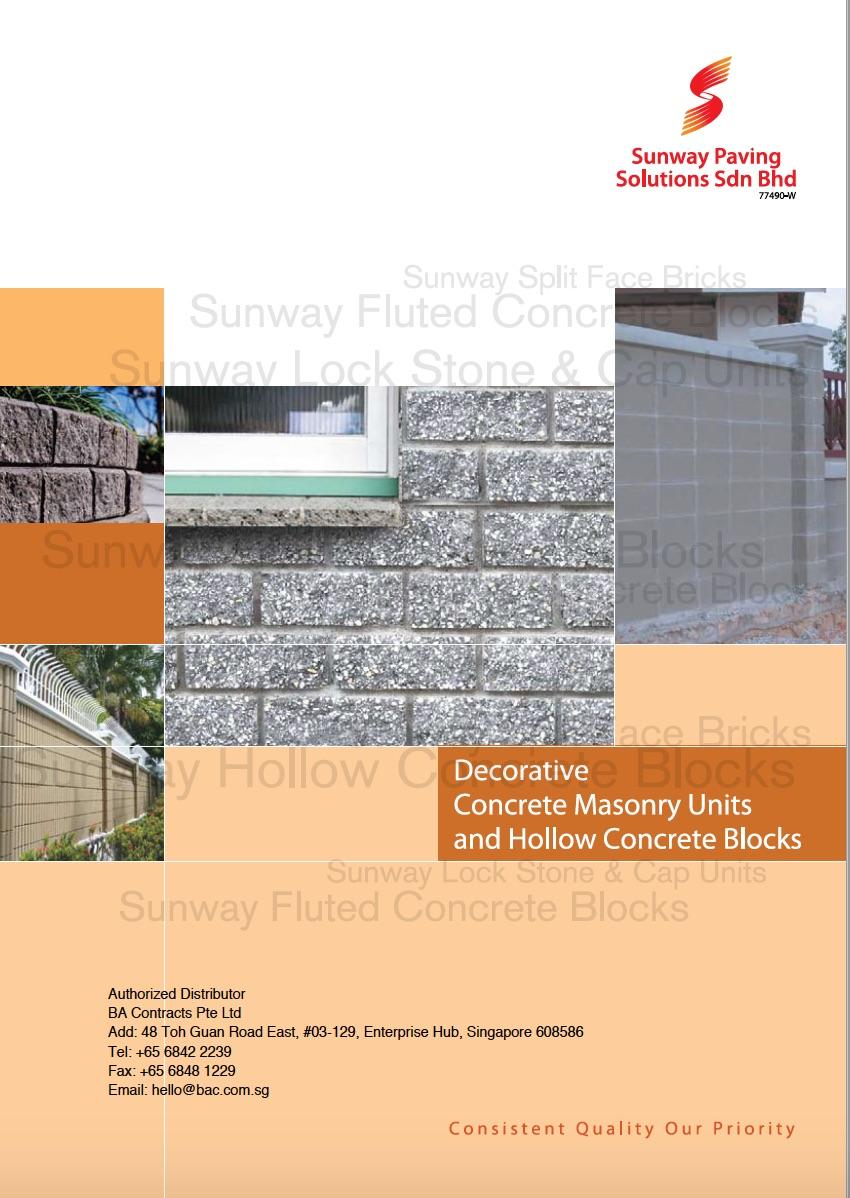 Concrete Masonry Units And Hollow Concrete Block Ba