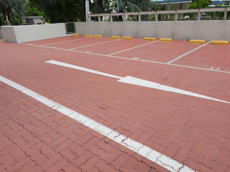 Replacement of clay pavers for driveway and carpark lots with concrete interlocking pavers.