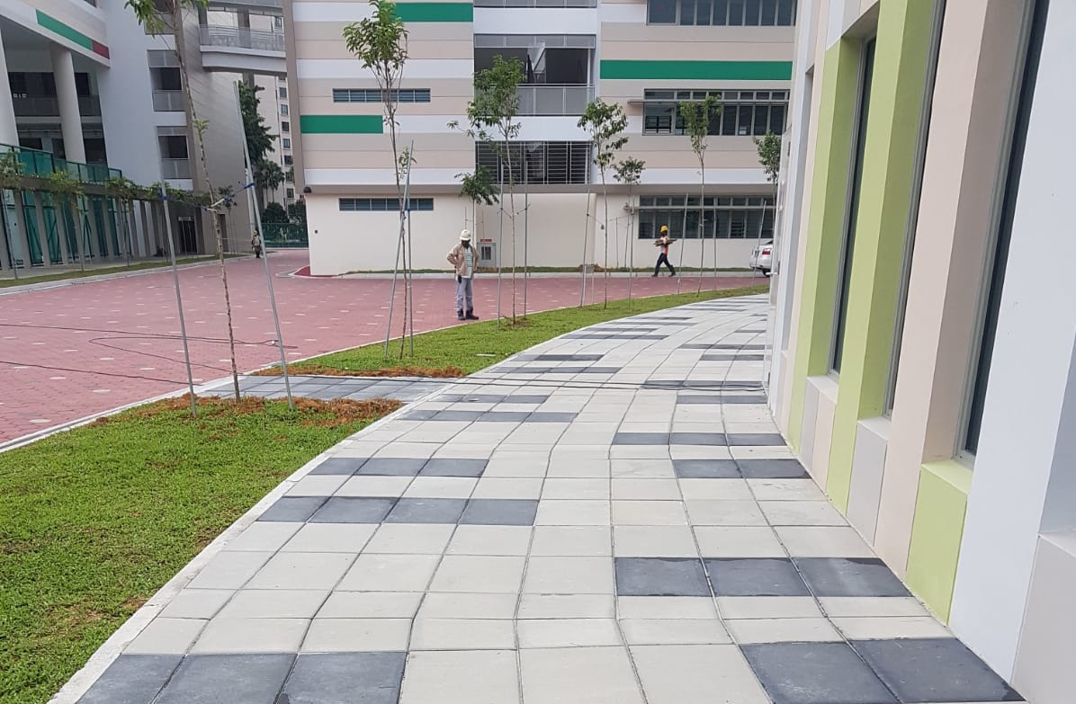 Large Format Rectangle Paver at School